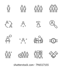 Human Resources; Management Icons Vector illustration