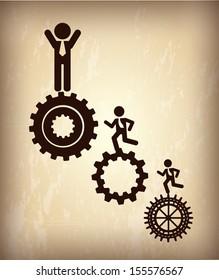 human resources over bronze background vector illustration