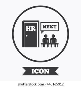 Human Resources Sign Icon Queue HR Stock Vector (Royalty