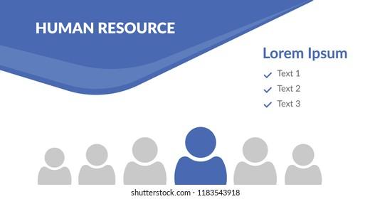 human resources. social post design. vector illustration. editable file for web banner.