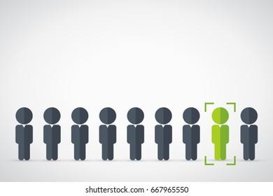 human resources vector banner design concept