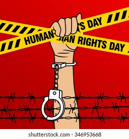 human rights day poster template stock vector royalty free