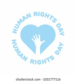 Human Rights Day Stamp Vector