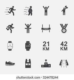 human run sign and symbol. vector illustration