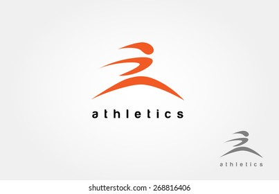 Human running vector logo character