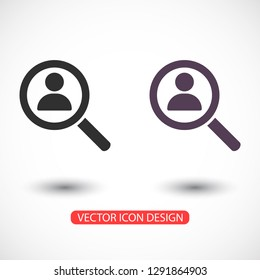 HUMAN SEARCH Icon vector