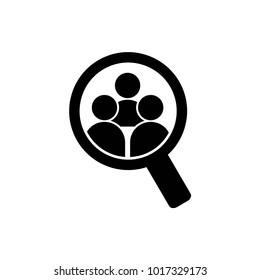 Human Search Logo Vector Template Design
