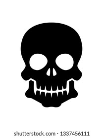 Human skull in black and white style vector