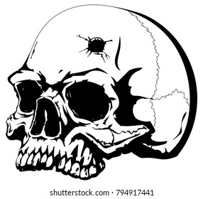 Bullet Hole Head Stock Illustrations Images Vectors Shutterstock Find & download free graphic resources for bullet hole. https www shutterstock com image vector human skull bullet hole on forehead 794917441