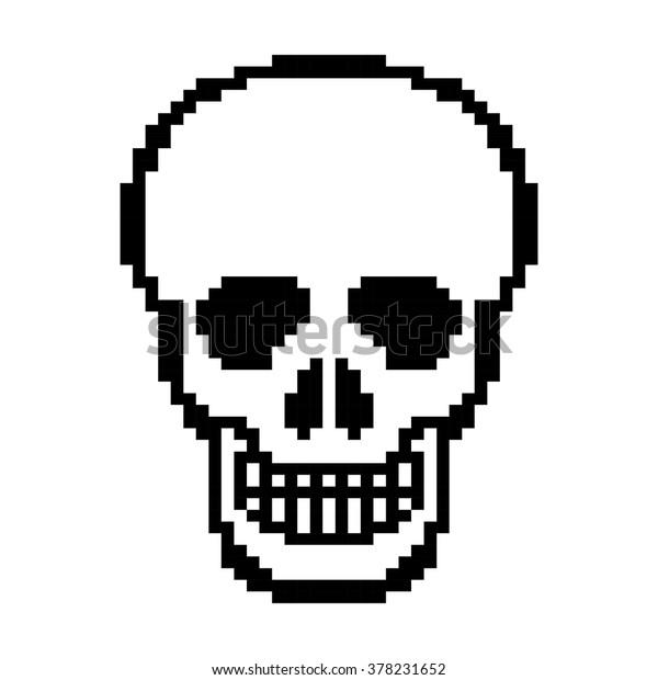 Human Skull Pixel Art Vector Stock Vector Royalty Free