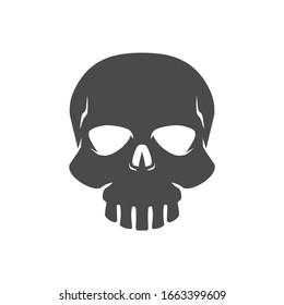 Human Skull Vector Icon illustration Silhouette.