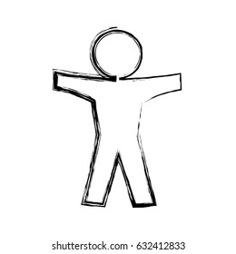 Human symbol pictogram