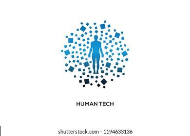 HUMAN TECH LOGO DESIGN