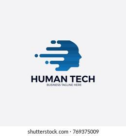Human Tech logo illustration.