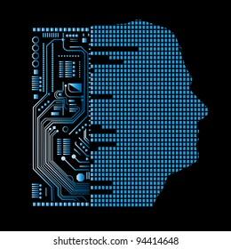 human and technology (layered)