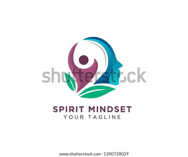 Human Think Health Spirit Success Logo Stock Vector