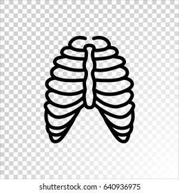 Human thorax icon flat.
