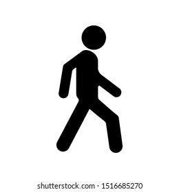 Human traffic danger fill icon for web and mobile