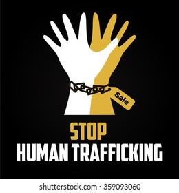 Human Trafficking Vector Template