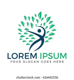 Human Tree logo. Health and Medical logo.