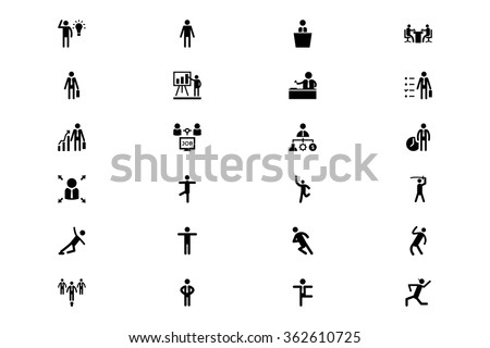 Human Vector Icons 3