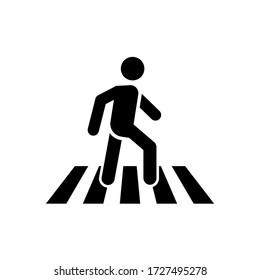 icône de la promenade humaine sur fond blanc. Icône piétonne. vecteur de stock
