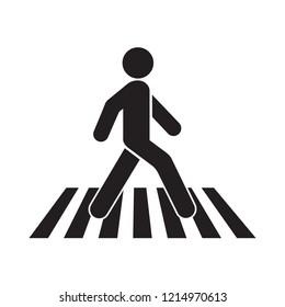 human walk crosswalk icon. Pedestrian sign
