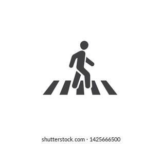 human walk crosswalk icon vector ,Pedestrian crossing vector icon