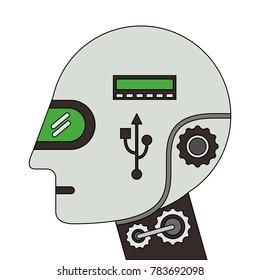 humanoid robot profile icon