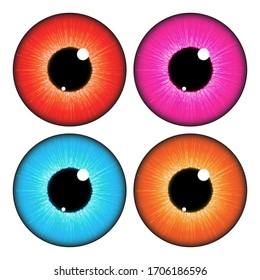 人間の目のベクター画像デザインEPS10。白い背景にリアルなベクターイラスト