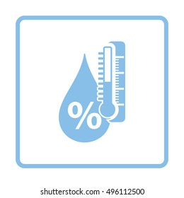 Humidity icon. Blue frame design. Vector illustration.