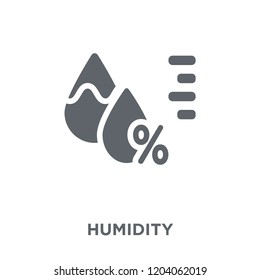 Humidity icon. Humidity design concept from  collection. Simple element vector illustration on white background.