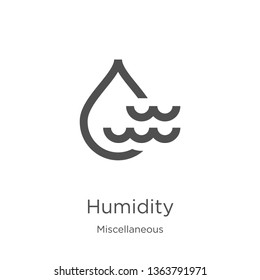 humidity icon. Element of miscellaneous collection for mobile concept and web apps icon. Outline, thin line humidity icon for website design and mobile, app development