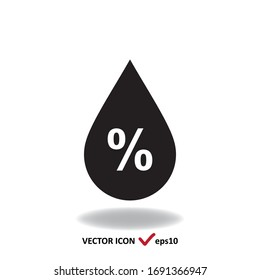 Humidity percent vector sign, simple minimal icon.