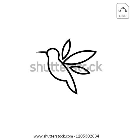 humming bird logo vector icon template stock vector royalty free