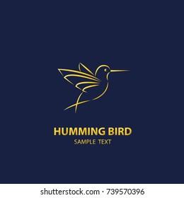 Humming bird logo vector,design luxury