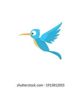Hummingbird cartoon vector on a white background