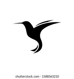 Hummingbird Flying Logo Vector. Bird Icon. Colibri Logos Template Design