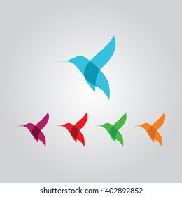 Hummingbird icon, hummingbird logo