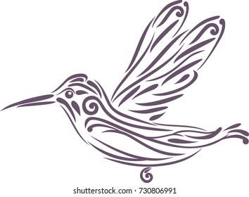Hummingbird. Icon for logo design. Vector