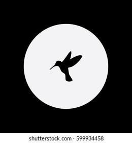 Hummingbird icon silhouette vector illustration