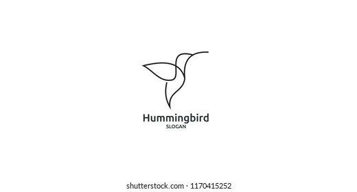 hummingbird line logo icon designs