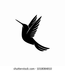 Hummingbird logo design inspiration isolated on white background