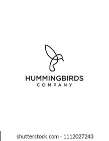hummingbirds line logo