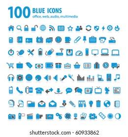 hundred blue icons