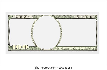 hundred dollar bill on whitei