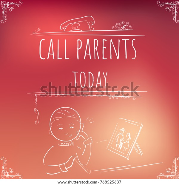 Hundred Important Reminders Notes Call Parents Stock Vector