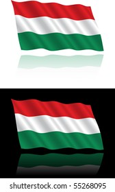 Hungarian Flag Flowing