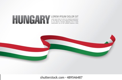 Hungarian flag on a white background