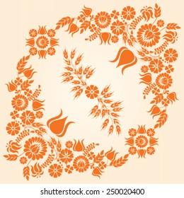 Hungarian folk pattern - vector illustration.
